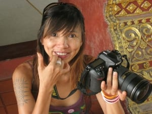 Teaching Jo, my photography student in Chiang Mai Thailand