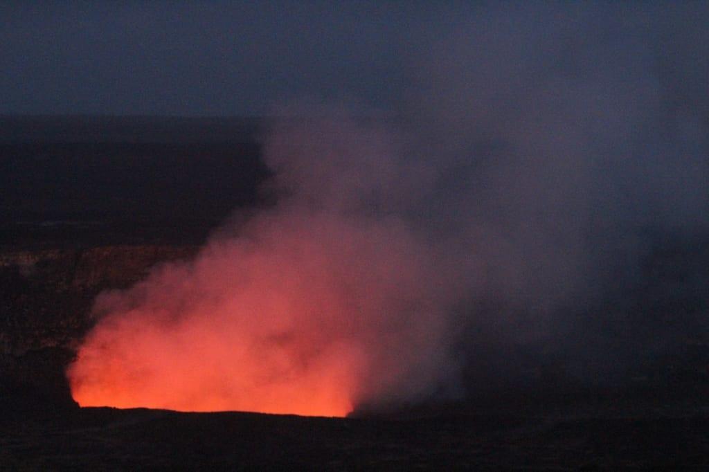 Volcano Pink Glow, Hawaii