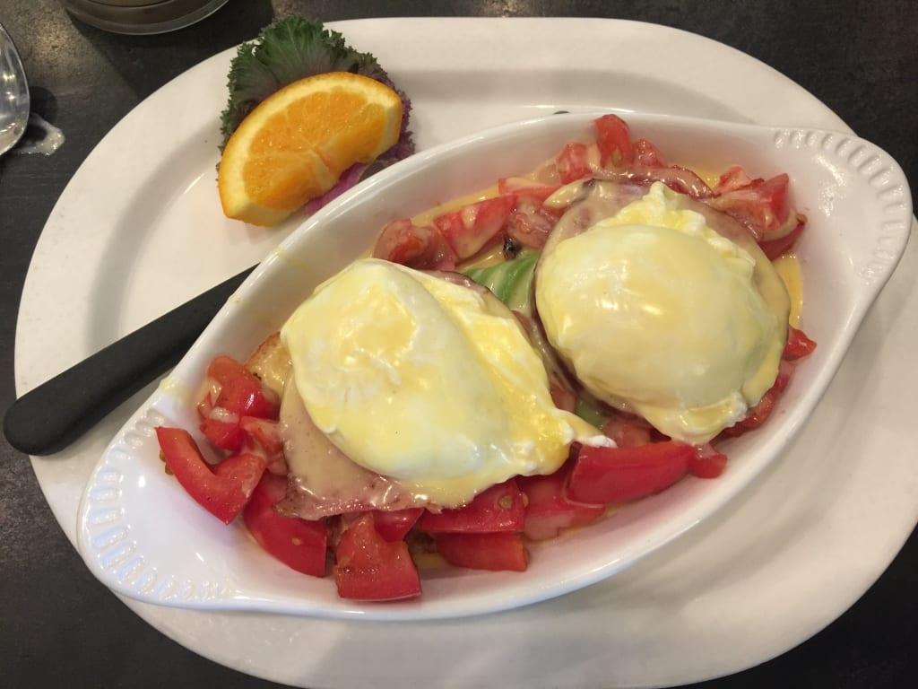 Eggs Benedict, St. Helena